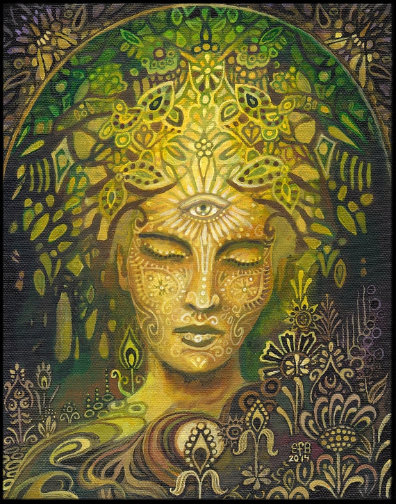 Sophia Goddess of Wisdom Original Acrylic Painting